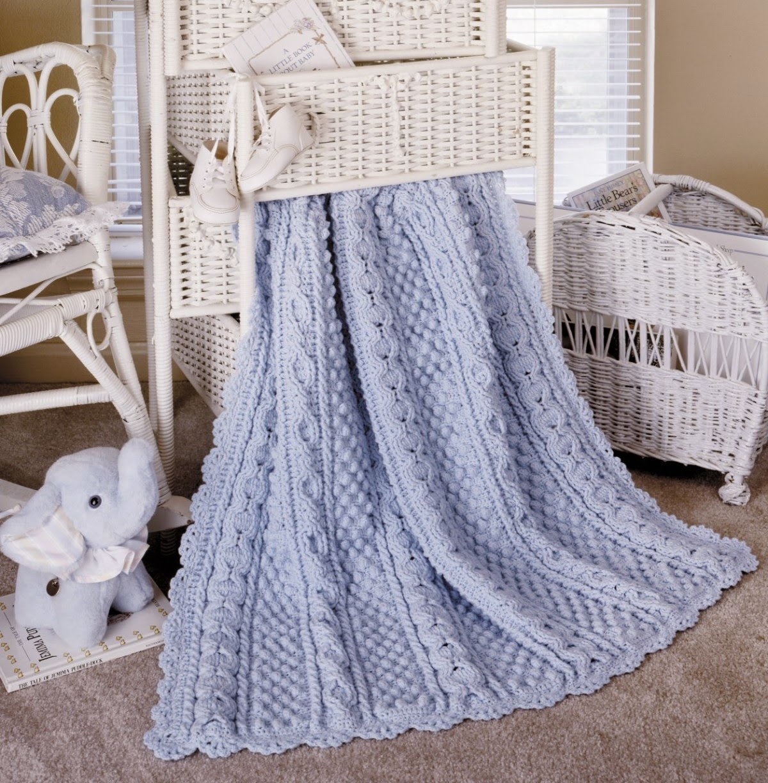 My Empty Nest: Aran Baby Afghans To Crochet
