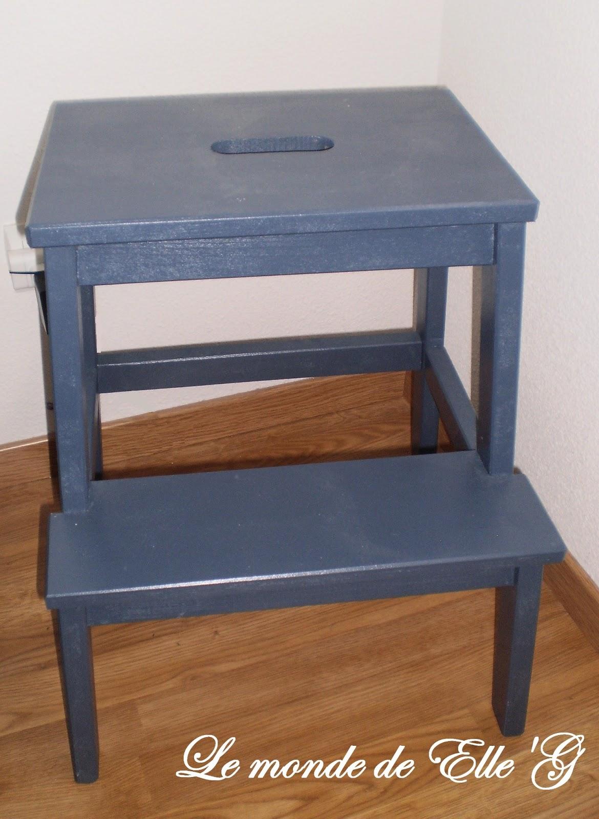Un marchepied comme table de nuit le monde de elle 39 g - Fabriquer une table de nuit ...