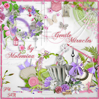 "Free scrapbook kit ""Gentle Miracles"" from Molemina"