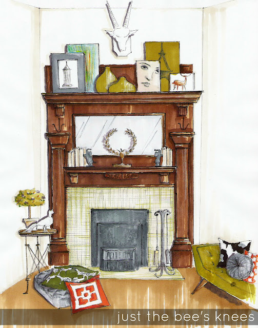 how to decorate victorian mantel