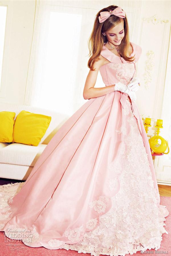 Barbie girl fashionista barbie bridal wedding dresses for Red and white wedding dresses 2012