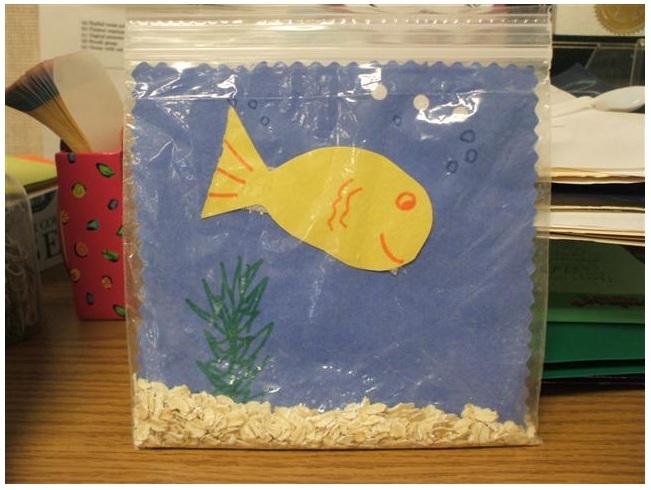 OT Plan Has A Cute Craft Making An Aquarium Using Construction Paper Clear Plastic Bag And Oatmeal