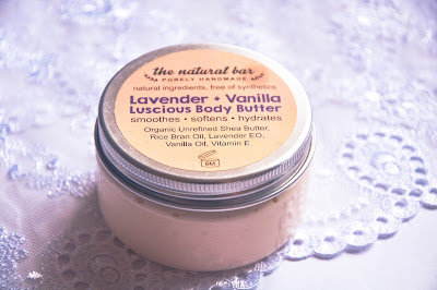 The Natural Bar Lavender + Vanilla Luscious Body Butter