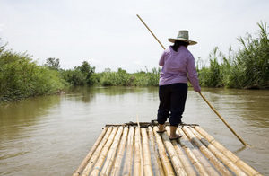 Bamboo rafting in northern Thailand