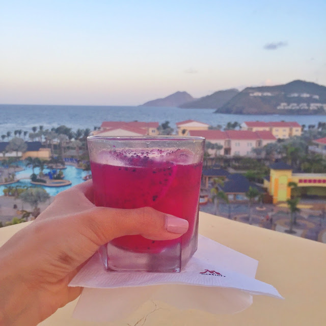 dragonfruit sangria st.kitts ocean view
