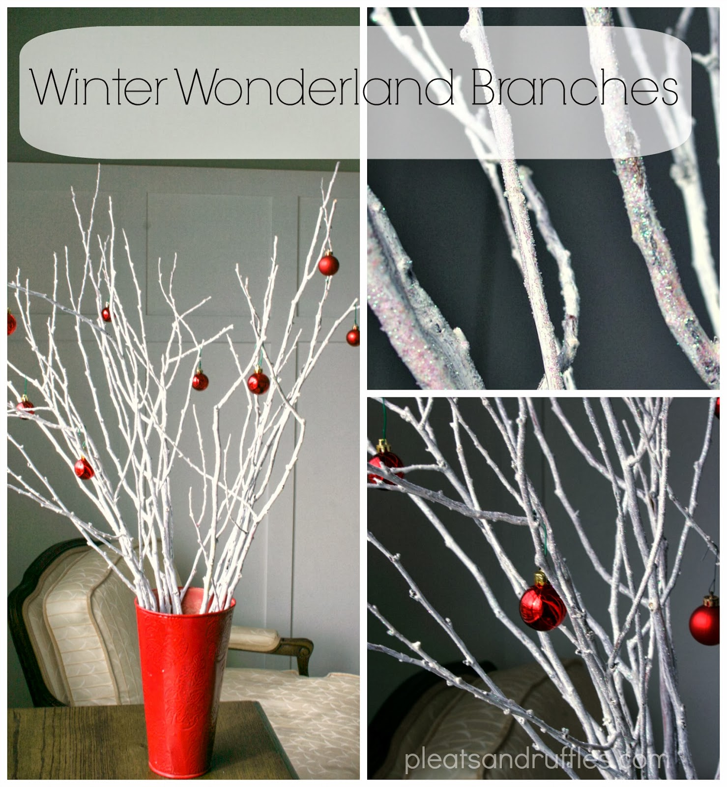 Little Black Lipstick Cheap Dollar Store Christmas Decor: Holiday Branches