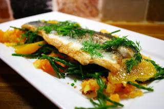 Sea Bass, Samphire and Ponch Maip