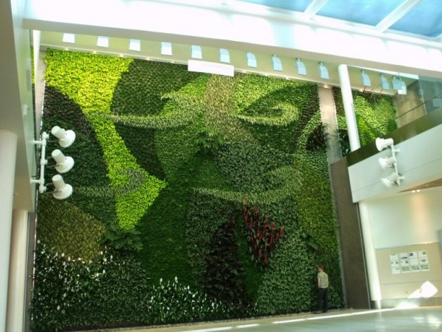 Jardines verticales muros verdes paredes vegetales - Muros verdes verticales ...