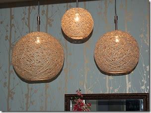Art lover dream lampada fatta a mano realizzata con corda di lino