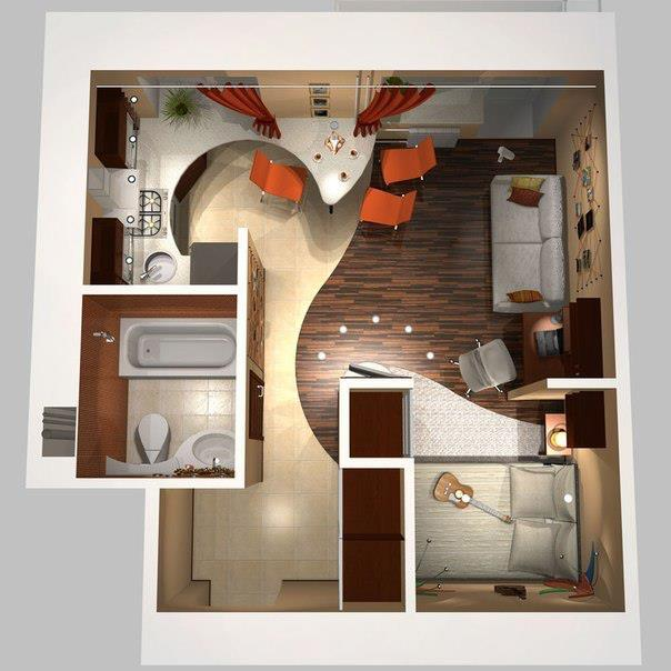 Very small studio apartment ideas apartment design ideas for Very small apartment interior design