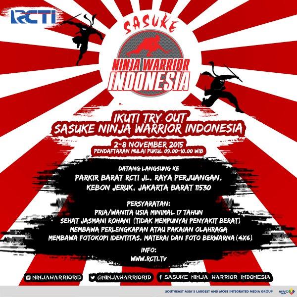 Cara Ikut Ninja Warior Indonesia