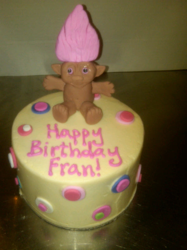 Troll Doll Birthday Cake