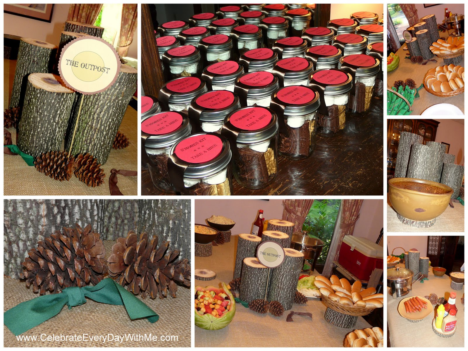 An outdoor themed bridal shower celebrate every day with me for Outdoor themed bathroom decor