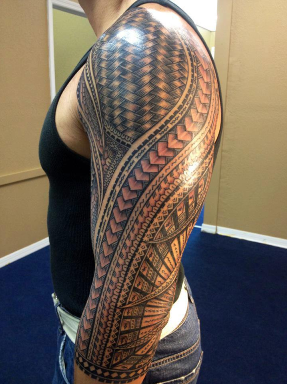Home » Arm Tattoos » Another Long Sleeve Tribal Tattoo