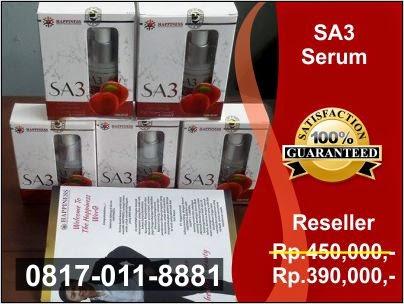 Daftar Harga Eceran Resmi, Jual Serum Apel SA3 PT Happinessindo di Jakarta, Bogor, Depok, Tangerang, Bekasi, Bandung, Medan, Surabaya, Batam, Palembang