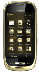Nokia Oro gold plated phone