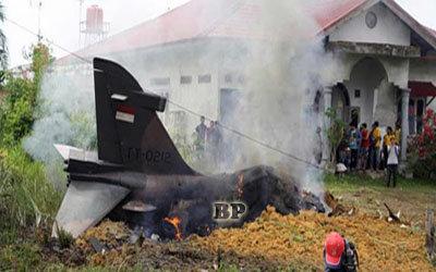 Pesawat-Hawk-200-Milik-TNI-jatuh-di-Pekanbaru