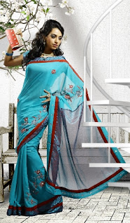 Georgette-Indian-Party-Wear-Saree