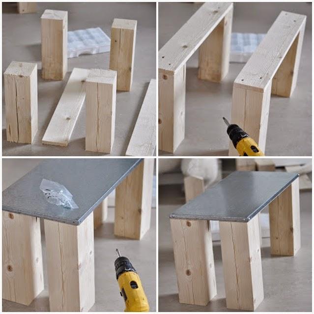 Diy c mo hacer tu propia mesa de centro tr s studio for Como hacer un centro de mesa facil