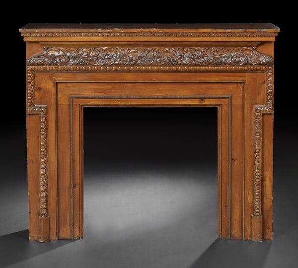 Auction Decorating: A fireplace (surround) and a mirror - cozy and ...