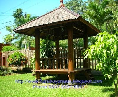 Tukang Taman Surabaya gazebo taman rumah