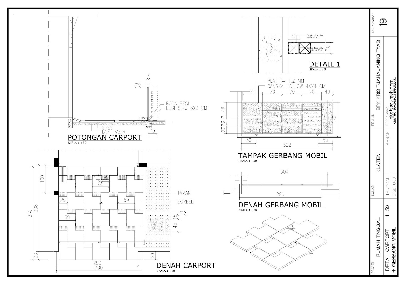 Rumah minimalis gambar rumah desain for Carport detail
