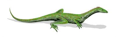 reptilia del triasico Macrocnemus