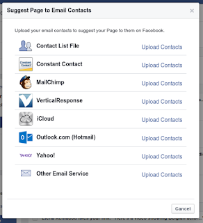 facebook upload contacts