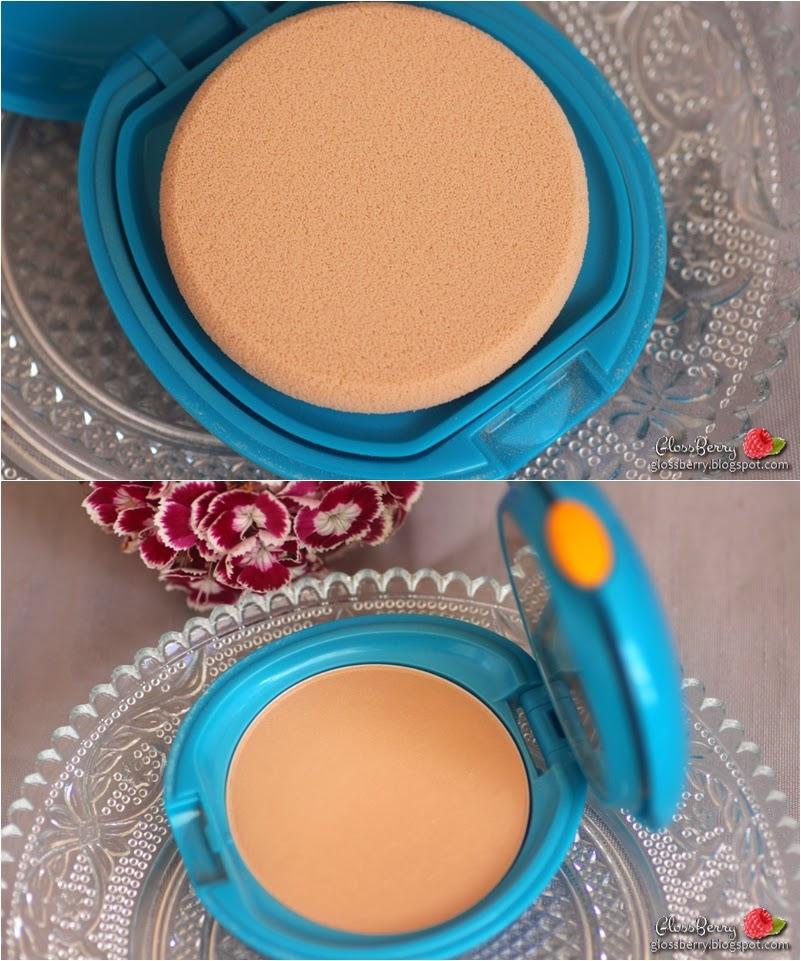 shiseido powder foundation makeup suncare sun spf 30 36 compact swatch review glossberry סקירה סווטץ' פודרה מייקאפ שיסיידו קומפקטי שמש  בלוג איפור וטיפוח