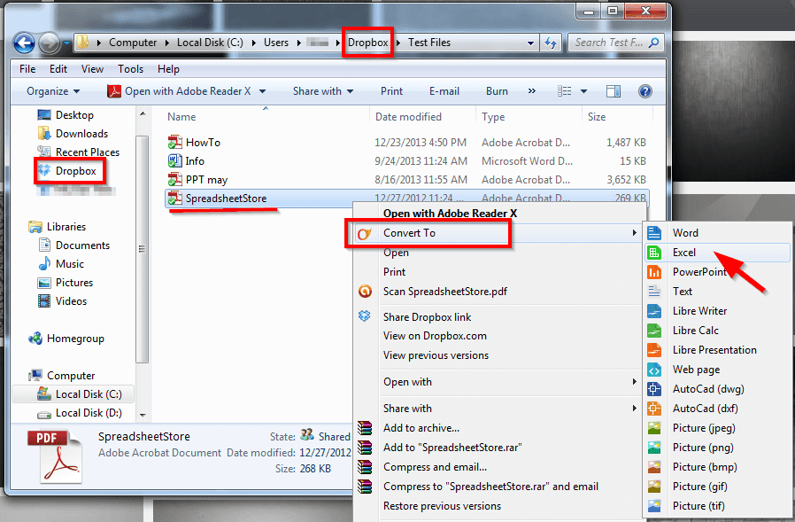 covert pdf files with cometdocs to other documents