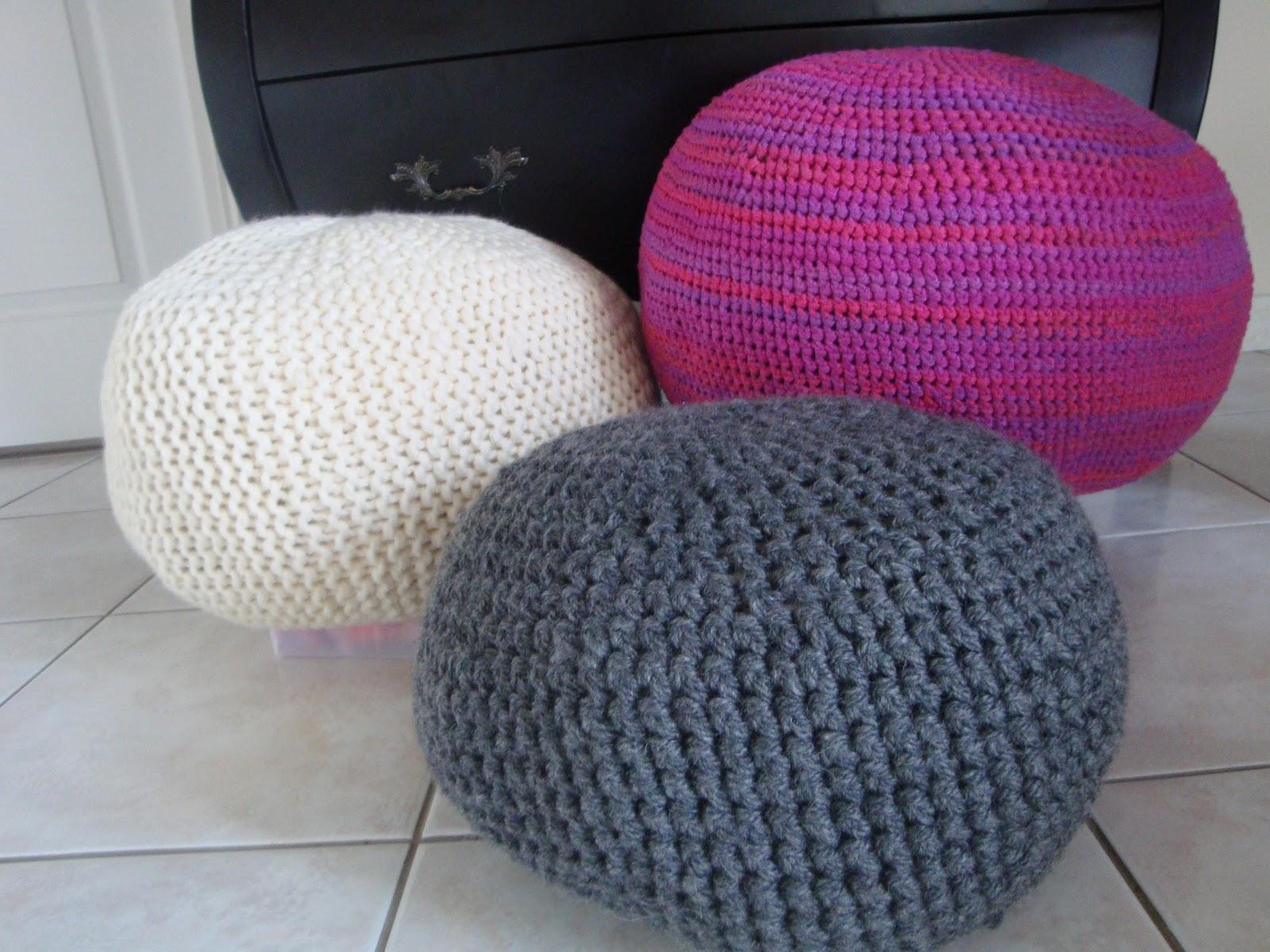 creakath poufs au crochet et tricot. Black Bedroom Furniture Sets. Home Design Ideas
