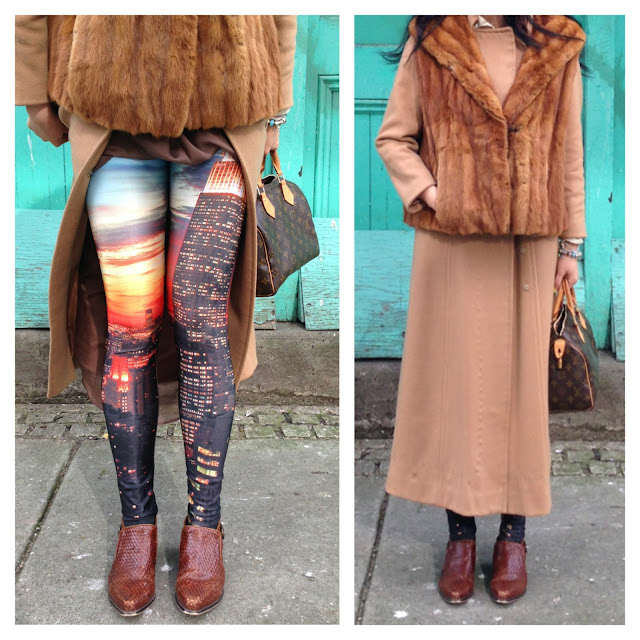 romwe leggings, trendy leggings, new york empire state building leggings, street style, trendy outfit, vancouver