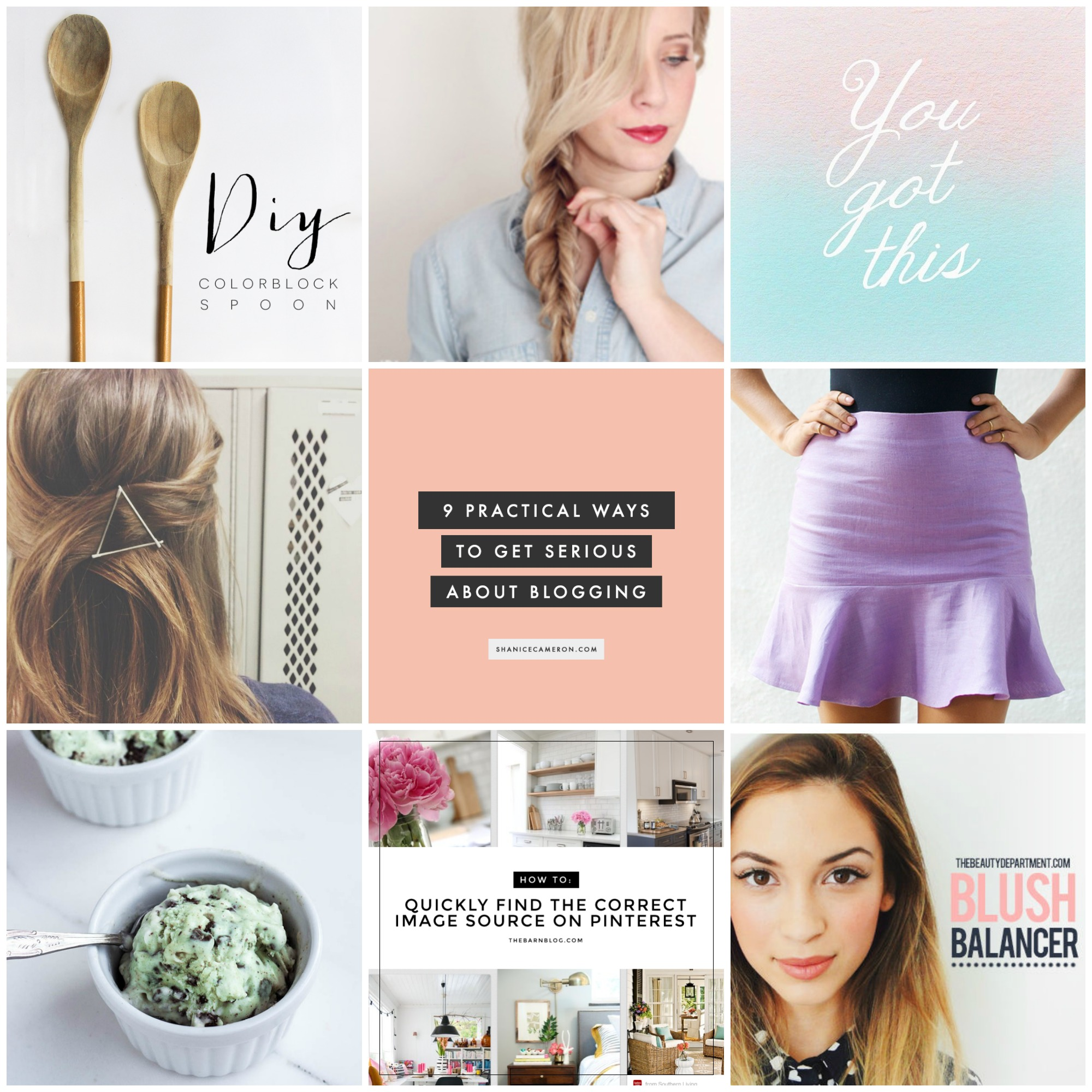 Pinterest Favorites, The Beauty Department, SheKnows, Alyssa Barnes Web Design, Vegan Ice Cream Recipe