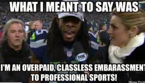 what I meant to say was I'm an overpaid, classless embarassment to professional sports!