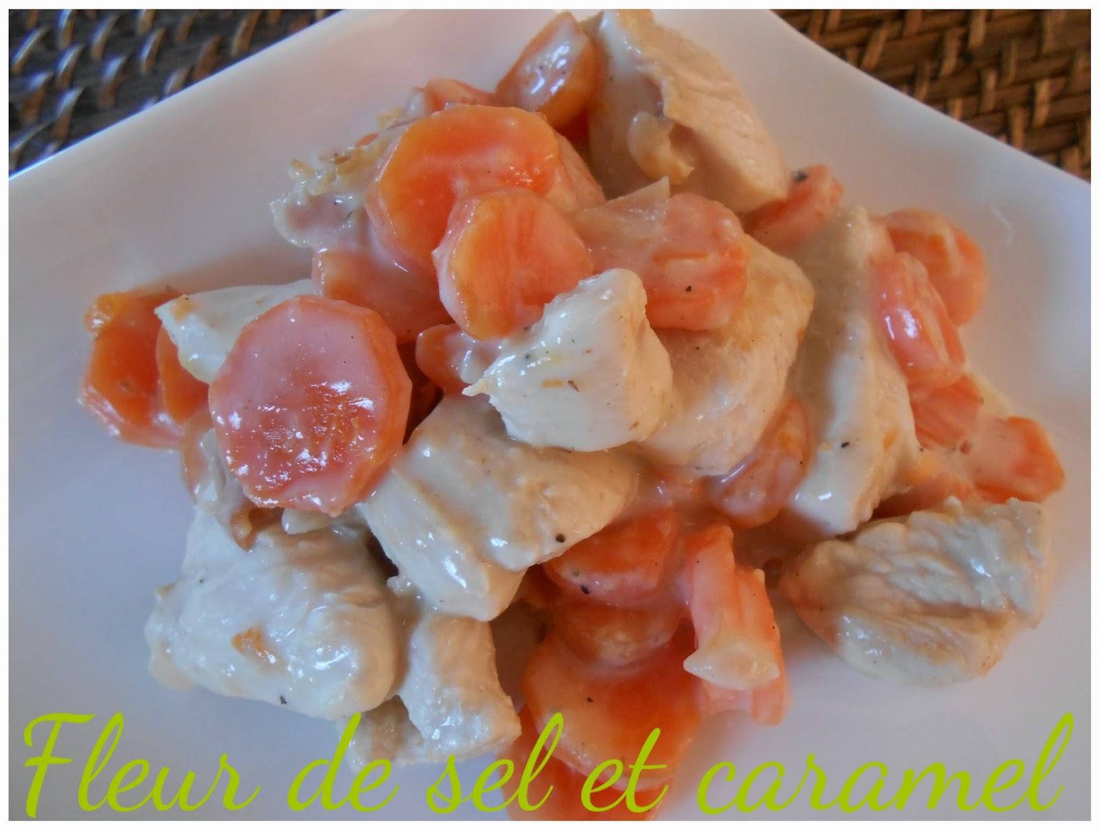 Poulet aux carottes à la crème
