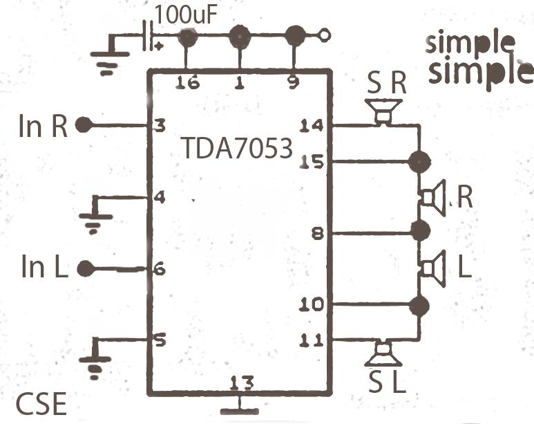 surround amplifier circuit with tda7053 gambar skema rangkaian rh gambarskemarangkaian blogspot com