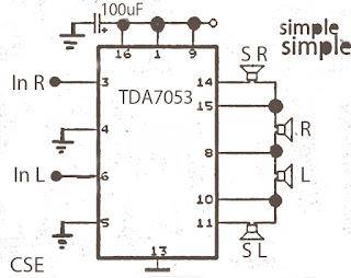 Surround amplifier circuit