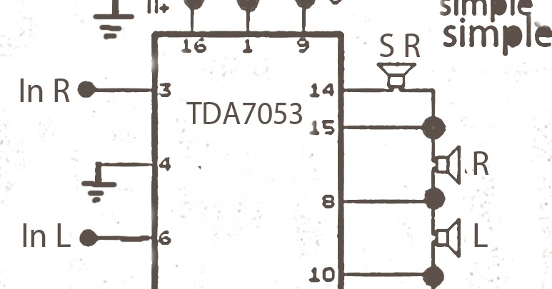Surround Amplifier Circuit With Tda7053