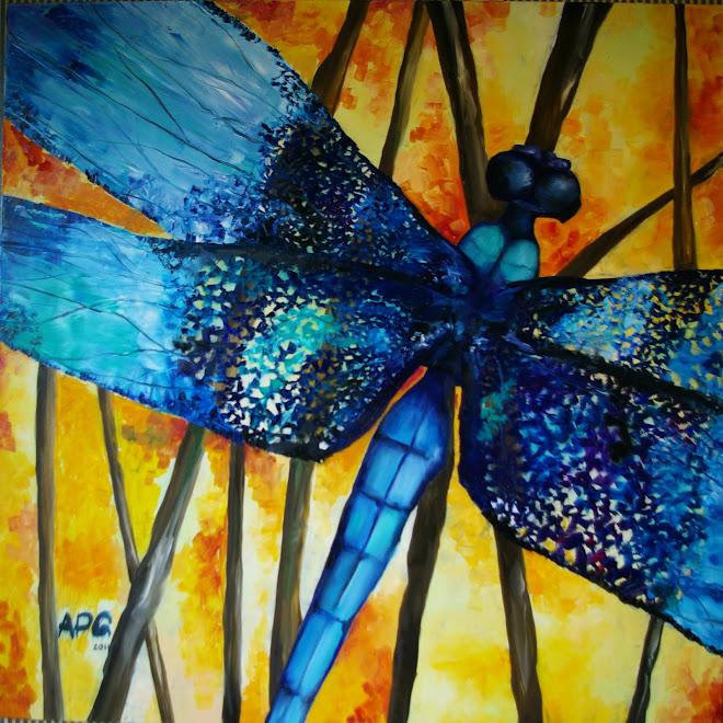 Dragonfly 100 x 100 cm