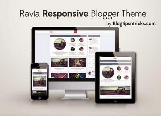 Ravia - A Responsive Blogger Template