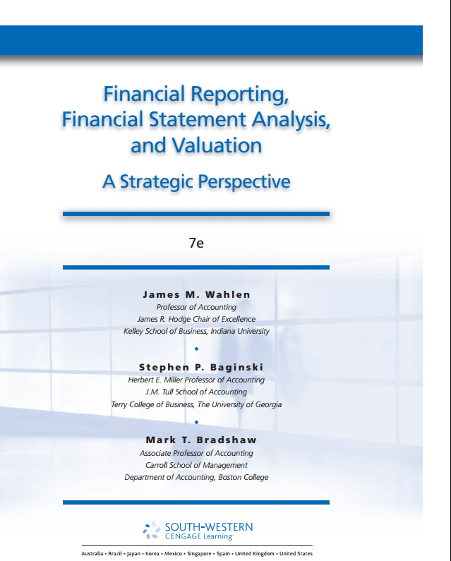 financial reporting financial statement analysis and valuation solution manual Financial reporting financial statement analysis and valuation solutions manual solution manual for financial reporting financial statement analysis and valuation a strategic.