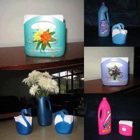 Hogar y jardin ideas sencillas para reciclar distintos for Ideas decorativas hogar