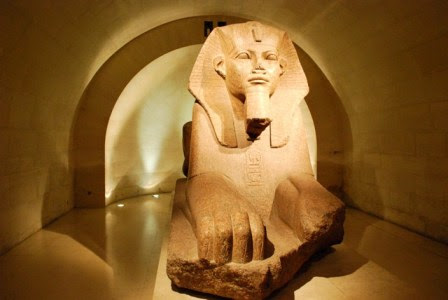 Egyptian Exhibits - The Louvre, Paris