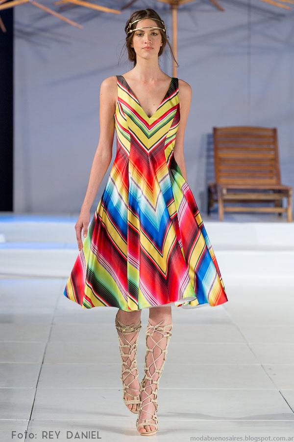 DOT by Laurencio Adot primavera verano 2016. Moda primavera verano 2016 vestidos cortos.