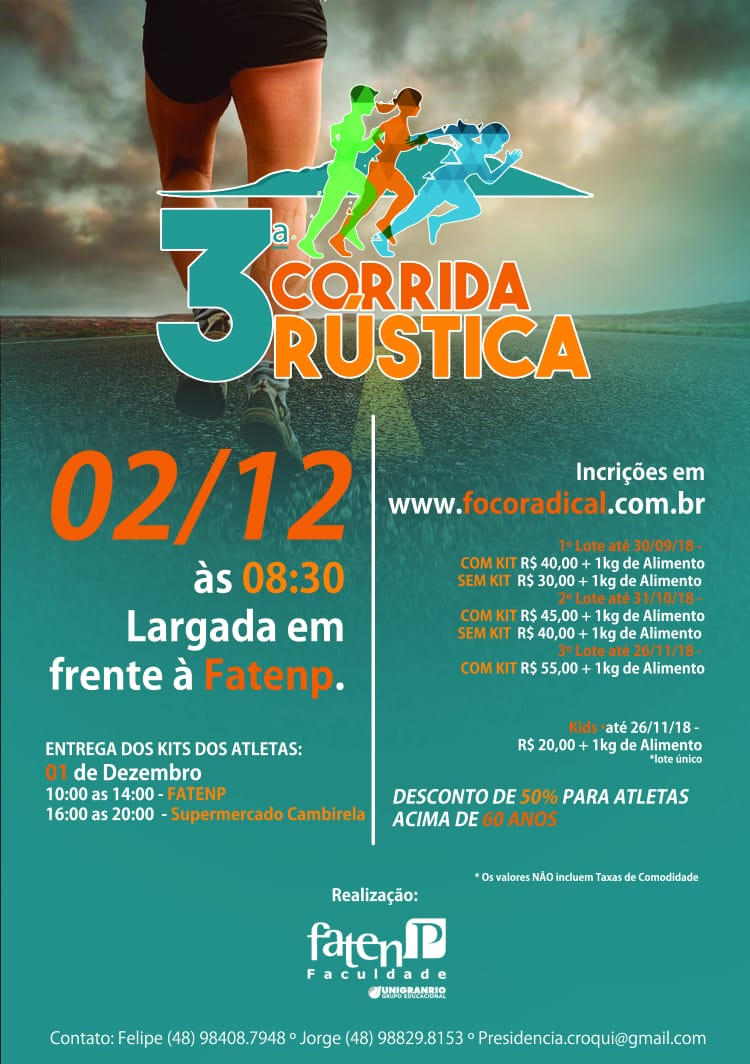 02/12/18 - 3ª Corrida Rústica FATENP