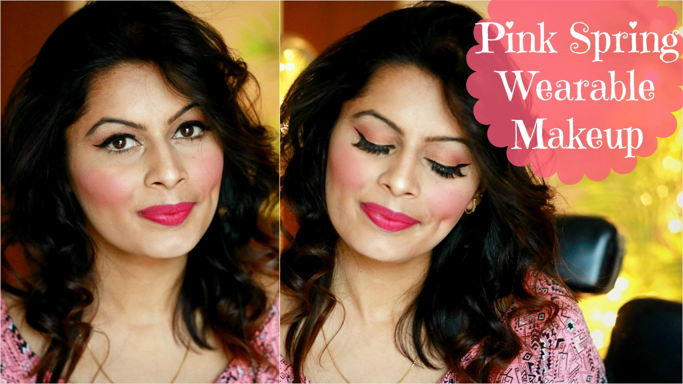 Pink spring wearable makeup look indian makeup guru kavya k i am here again with another spring look this look is quite wearable and would suit lot of you girls out there my last spring look had very bold ombre baditri Image collections
