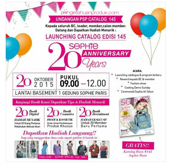 Launching Katalog Promo Sophie Martin November 2015 Edisi 145