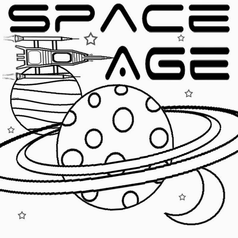 kids space age free art learning simple play school color pages to print coloring book moon - Pages To Color