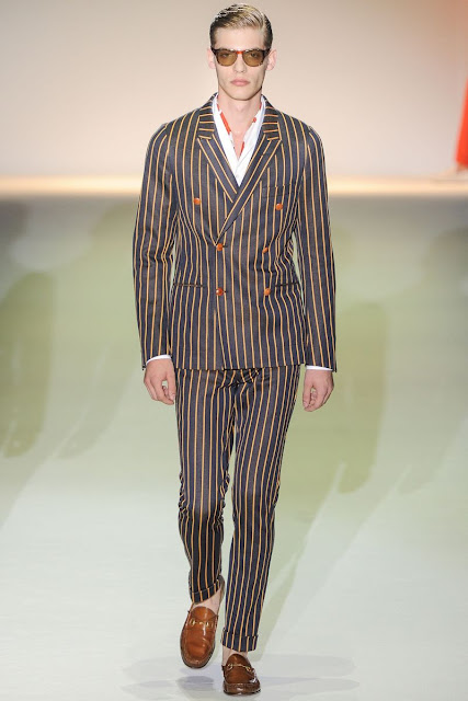 Male model Bap­tiste Radufe  S/S 2013 Gucci