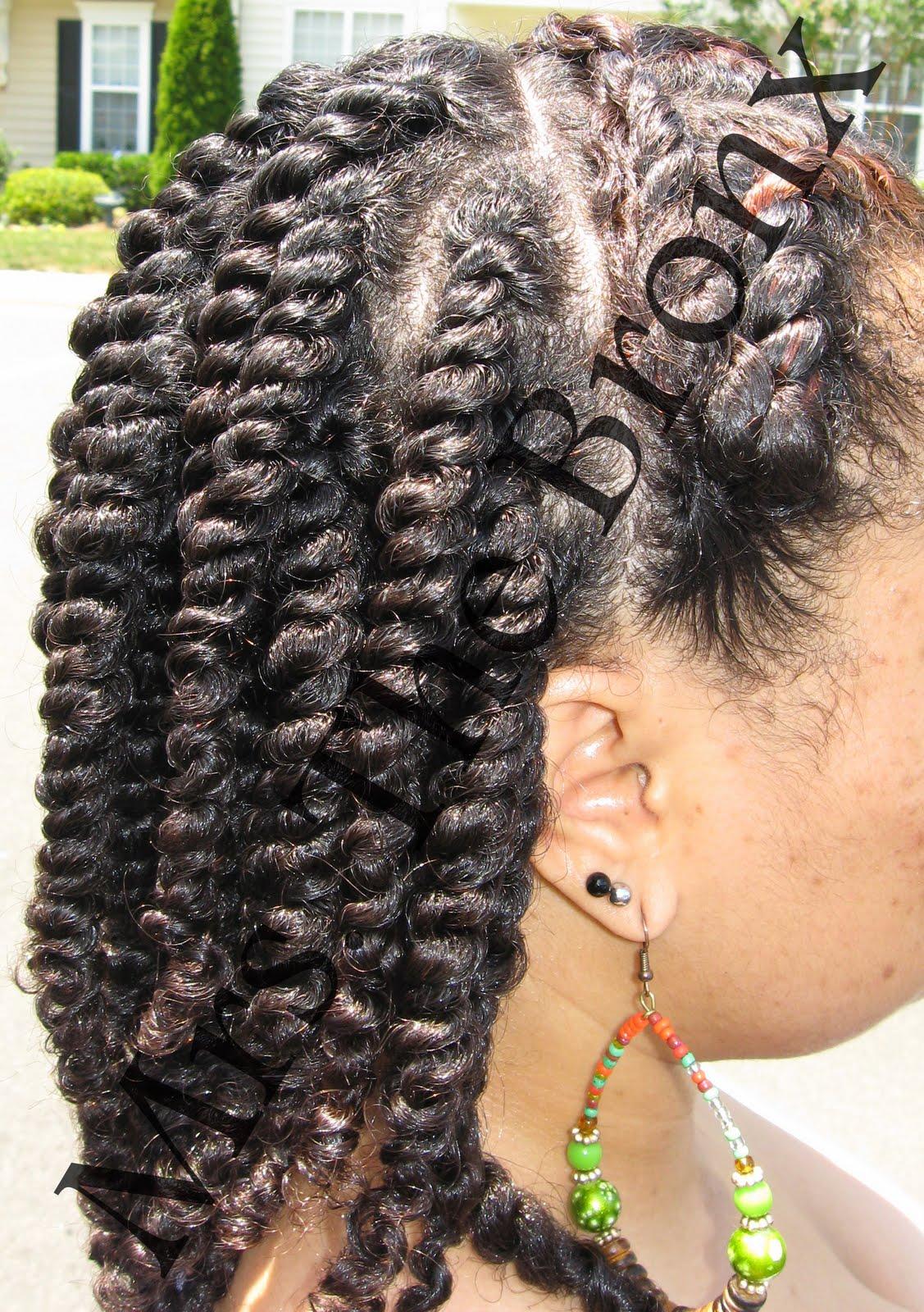 Heavenly Hues Hair Do S Alternative To 2 Flat Twists A Bun